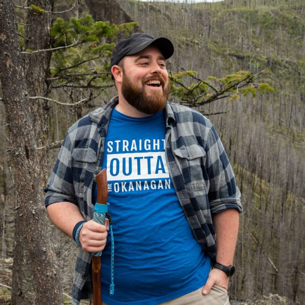 Men's heather blue Straight Outta the Okanagan tshirt - 351 Apparel
