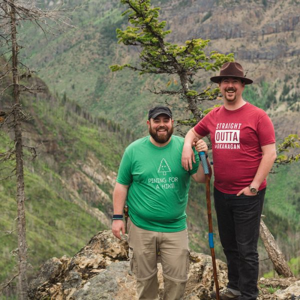 Men's Straight Outta the Okanagan & Pining for a Hike tshirts - 351 Apparel