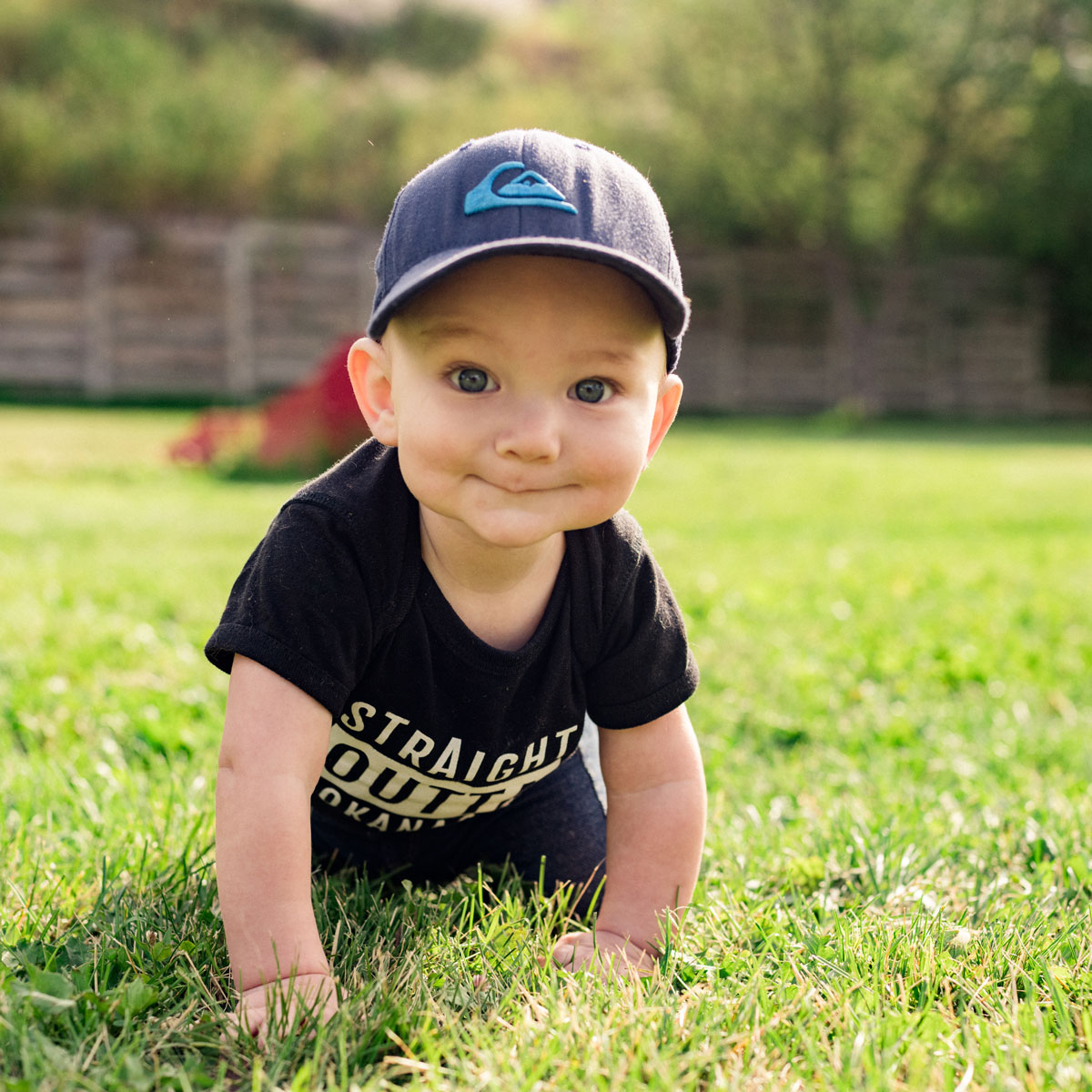 Black Straight Outta the Okanagan baby onsie - 351 Apparel