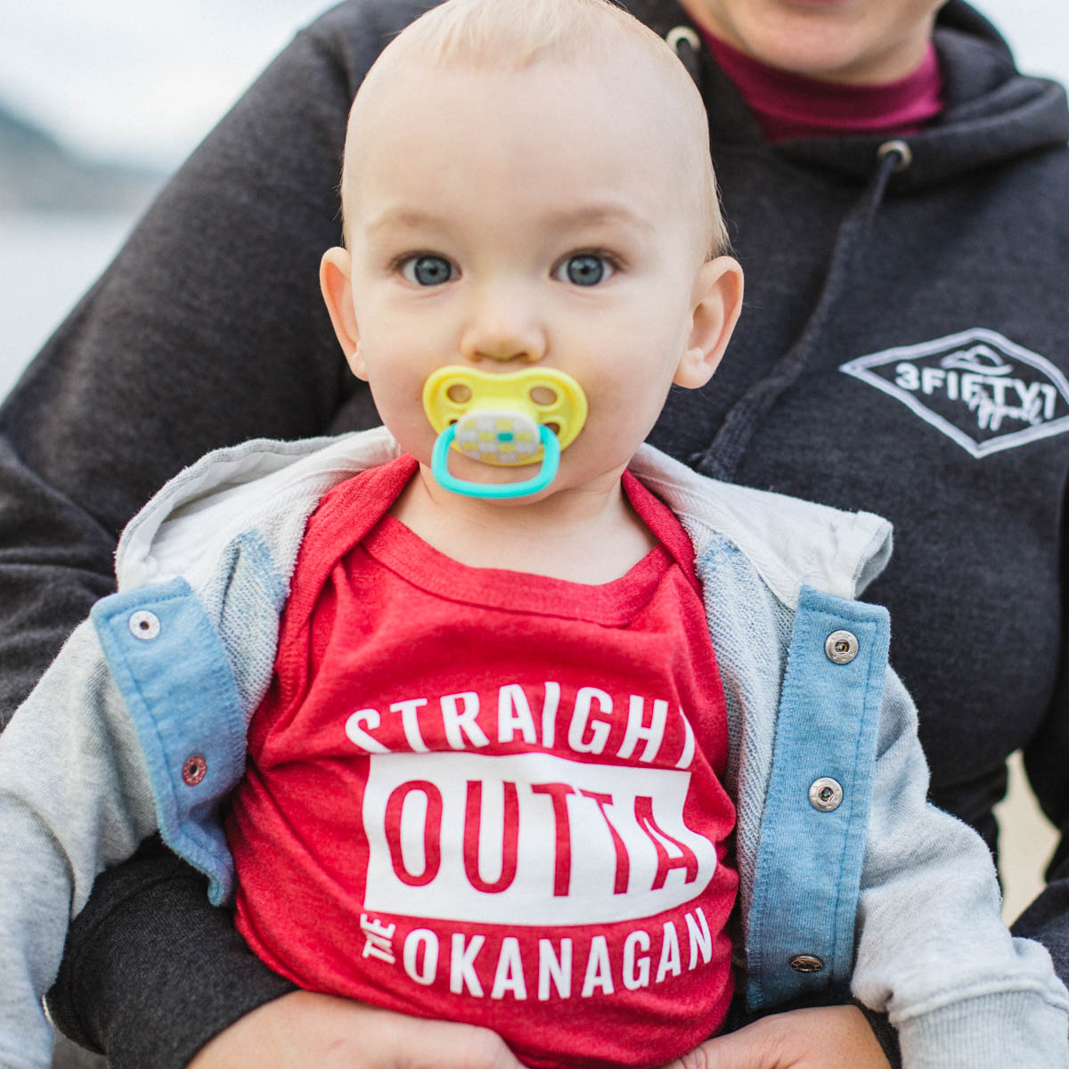 Red Straight Outta the Okanagan baby onsie - 351 Apparel