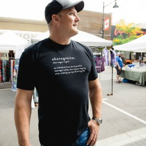 Men's Okanaganite tshirt in black - 351 Apparel