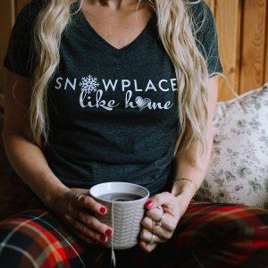 Snowplace like Home Ladies Winter T-Shirt - 351 Apparel