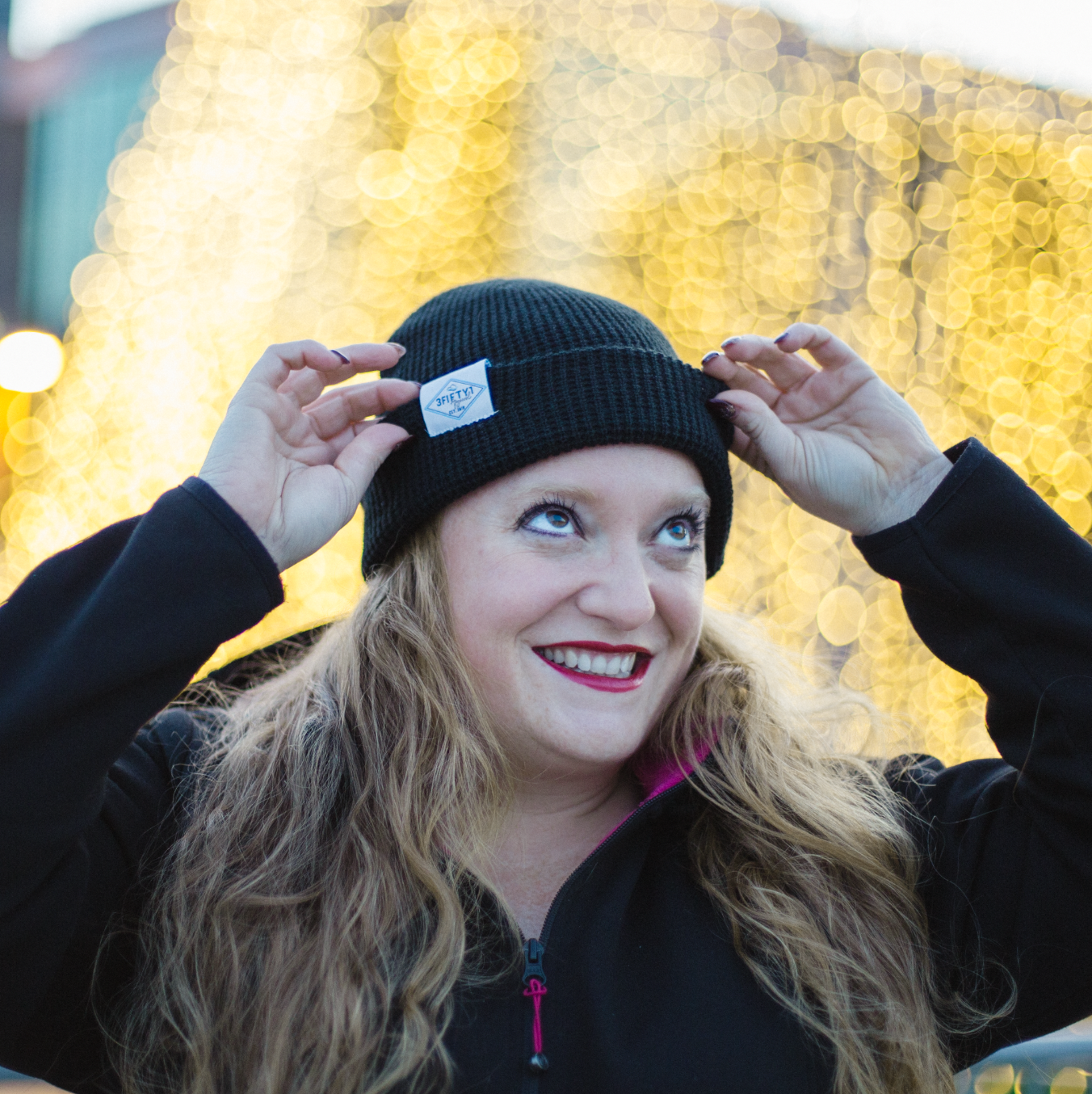 351 Apparel waffle knit toque in Black